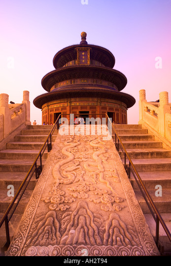 Temple of Heaven Hall of Prayer for the Harvest Beijing China - Stock Image