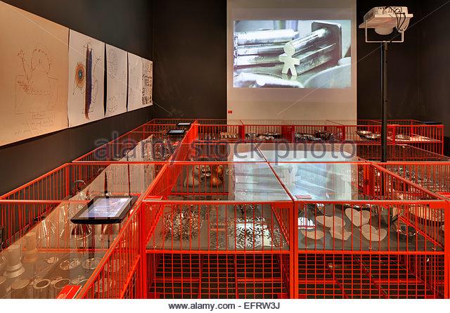 London Design Festival 2013, London, United Kingdom. Architect: Various Architects, 2013. Alessi exhibition space. - Stock Image