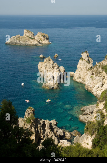 Paleokastritsa, Corfu, Greece - Stock Image