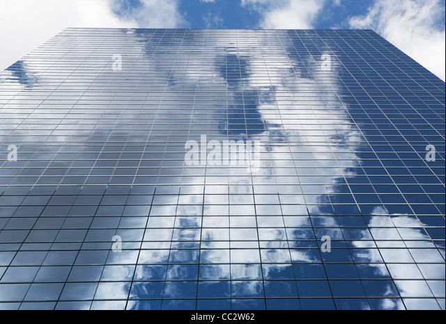 USA, New York State, New York City, Modern office building - Stock Image