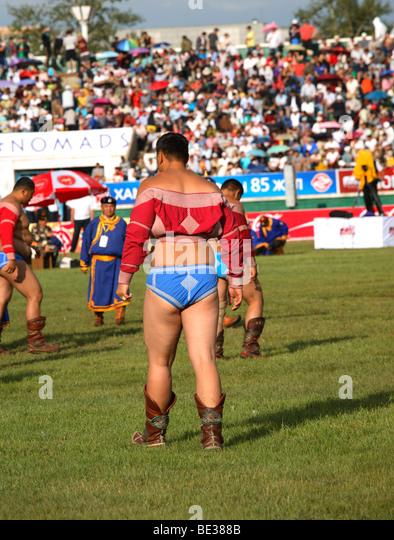 Mongolian wrestling naadam