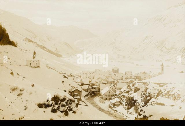Andamatt Village in Switzerland - Stock Image
