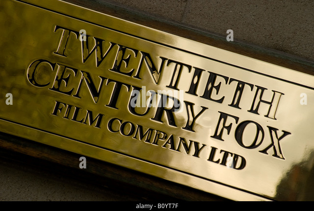 Twentieth Century Fox Plaque, Soho, London - Stock Image