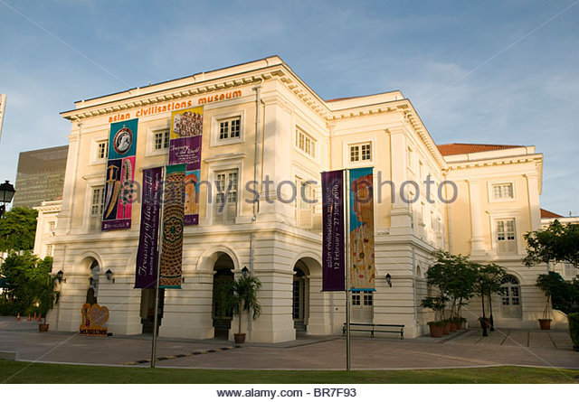 Empress Place building, Asian Civilization Museum, Civic District, Singapore - Stock Image