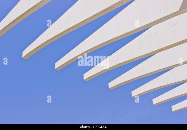 Abstract architecture, Malaga - Stock Image