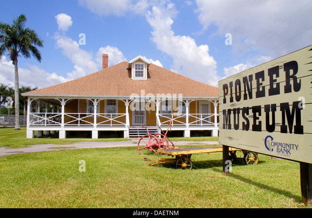 Miami Florida Florida City Pioneer Museum front entrance exterior historic - Stock Image