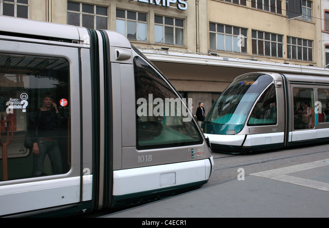 trams france stock photos trams france stock images alamy. Black Bedroom Furniture Sets. Home Design Ideas
