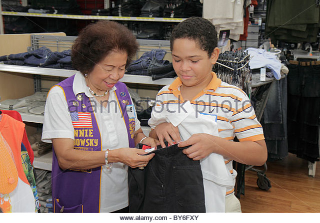 North Miami Beach Florida Wal-Mart Walmart Lions Club Back to School Shopping Spree shopping disadvantaged student - Stock Image