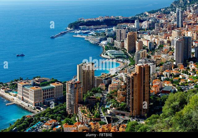 Monaco, over view on the city - Stock Image