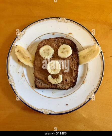 Toast face - Stock Image