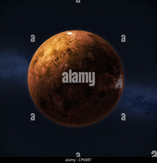 View of the planet Venus - Stock Image