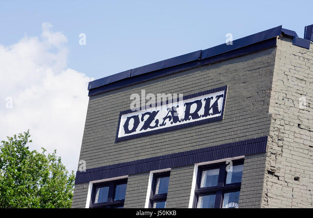 Alabama Ozark small town square historic building downtown business district - Stock Image