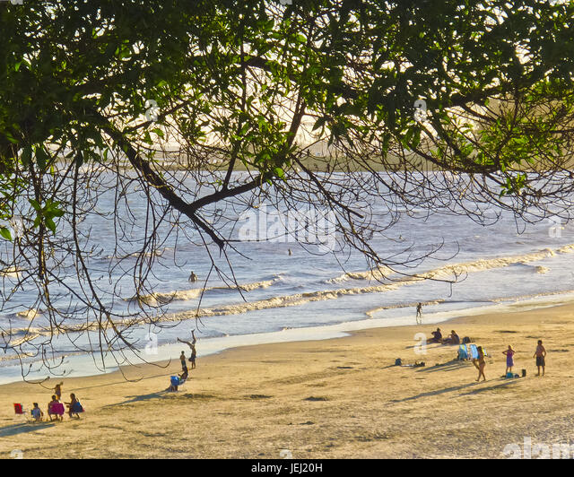 Montevideo Summer Beach - Stock Image
