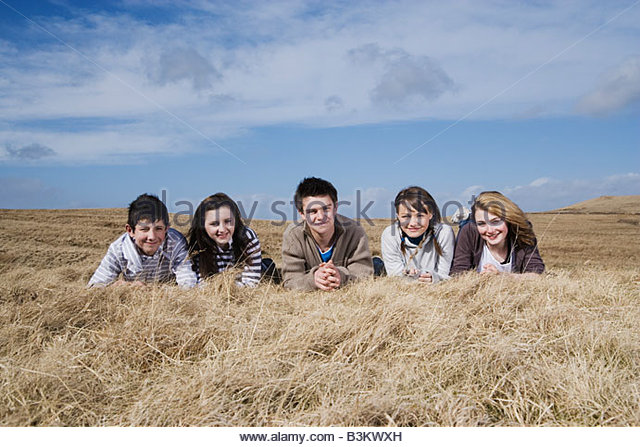 Teenage Girl Lying In Field Stock Photos & Teenage Girl ...