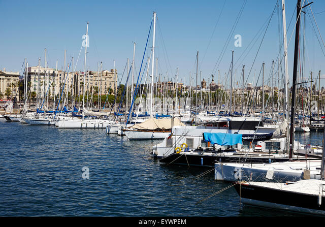 Barcelona Marina, Barcelona, Catalonia, Spain, Europe - Stock Image