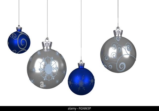 Baubles Blue Cut Out Stock Images & Pictures - Alamy
