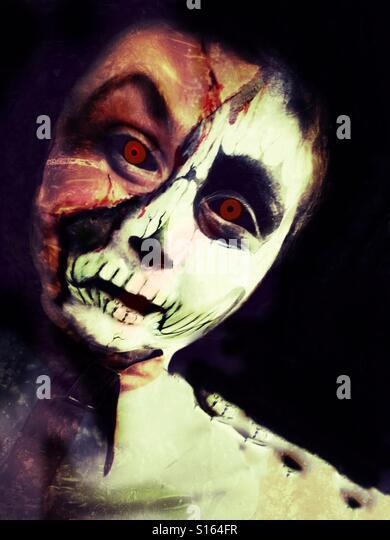 Ghoulish boy - Stock-Bilder