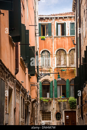 Old buildings, Venice, Veneto, Italy - Stock-Bilder