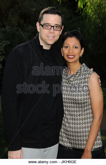 Aron Gaudet and Gita Pullapilly. ADM_VARIETYBRUNCHPS_BP_92 - 5 January 2014 - Palm Springs, California - Aron Gaudet, - Stock Image