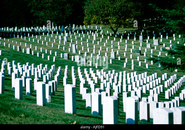 Arlington National Cemetery, Arlington Virginia - Stock Image