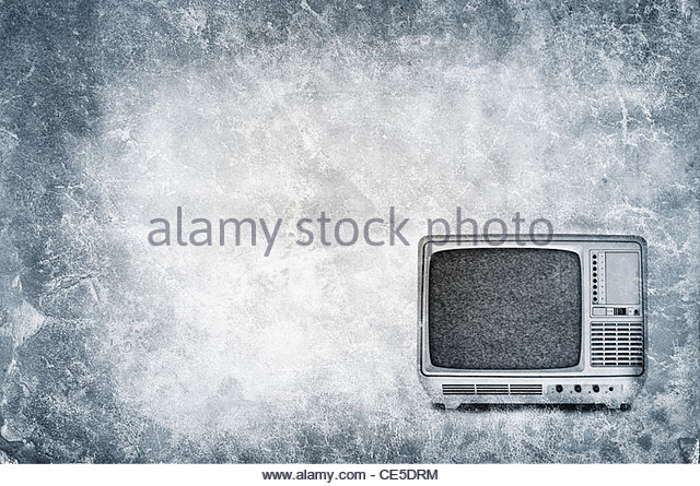 Old fashioned portable television set - Stock-Bilder