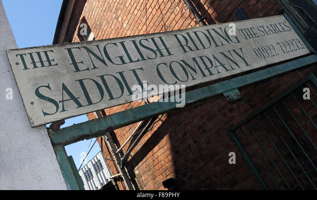 Walsall English Riding Saddle Company, The Stables, saddlers, west Midlands, England UK - Stock Image