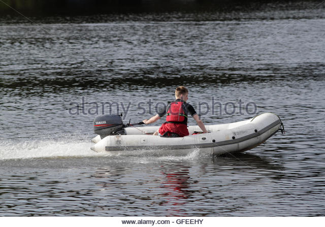 Inflatable Dinghy Outboard Motor Stock Photos Inflatable