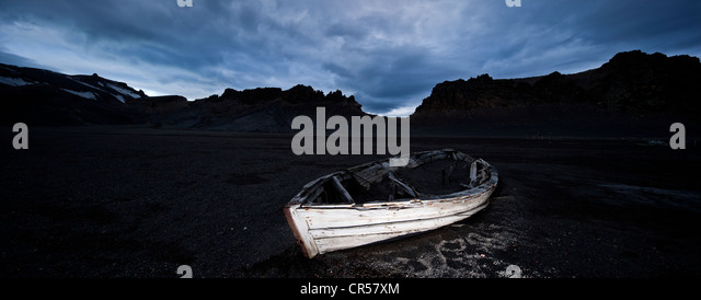Rowing boat, Antarctic Region, Antarctica - Stock Image