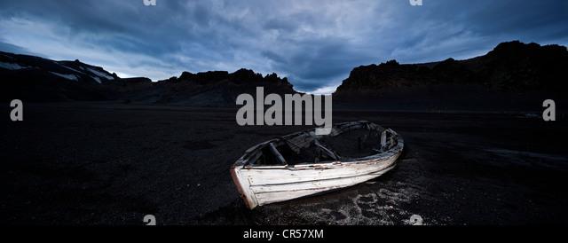 Rowing boat, Antarctic Region, Antarctica - Stock Image
