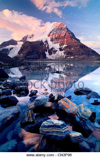 Mt. Robson, Mt. Robson Provincial Park, British Columbia, Canada - Stock Image