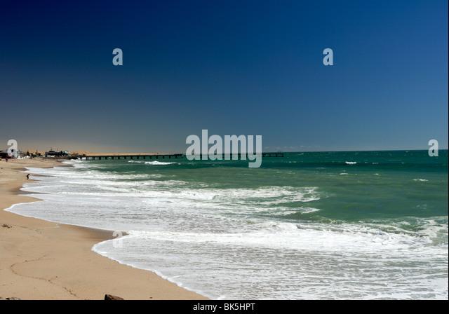Beach at Swakopmund, Namibia, Africa - Stock Image