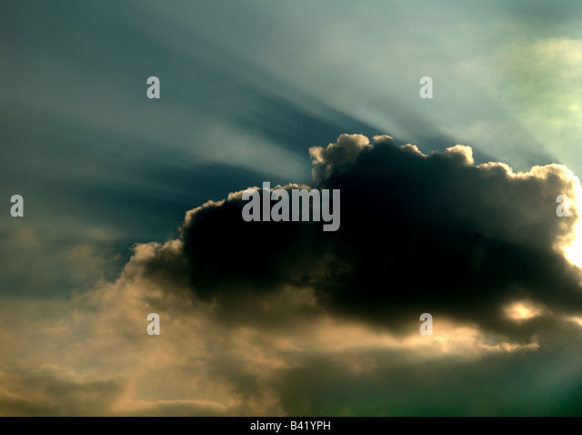 Cloud with a silver lining. See also B41YN8 - Stock Image