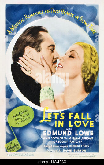 LET'S FALL IN LOVE 1933 Columbia Pictures film with Ann Sothern and Edmund Lowe - Stock-Bilder