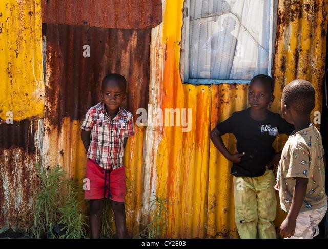 boys, Langa township, South Africa - Stock-Bilder
