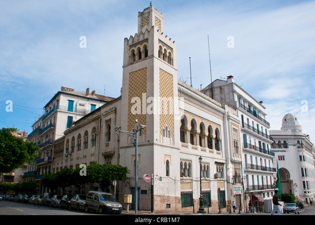 The old post office in Algiers, Algeria, Africa - Stock Image