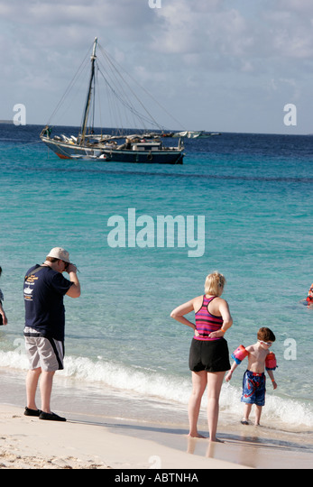 Grand Turk Cockburn Town Columbus Landfall National Park Governor's Beach beachcombing Turks Island Passage - Stock Image