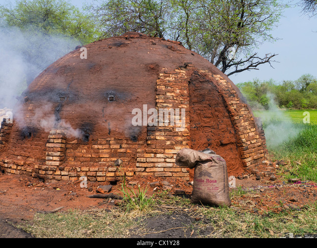 how to build a charcoal kiln
