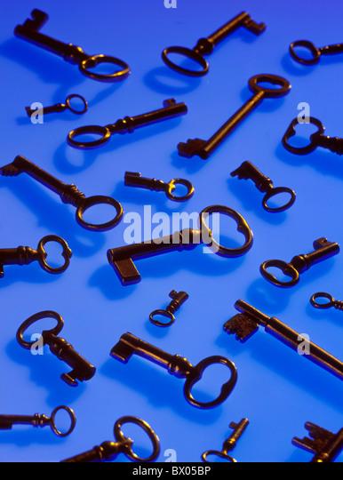 bit key mauve several key symbol open concept - Stock Image