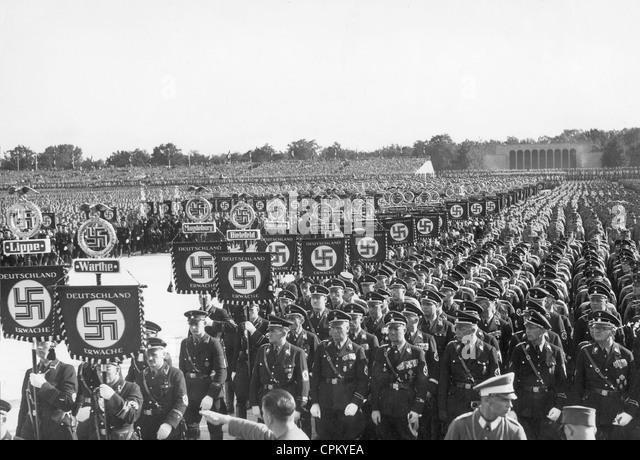 SS during the Nuremberg Rally, 1935 - Stock-Bilder