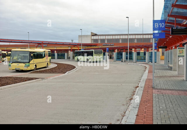 Bus station in Cheb (Czech Republic) - Stock-Bilder
