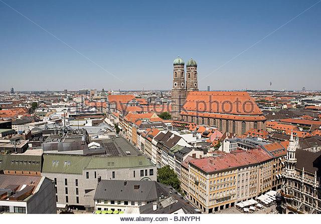 Munich cityscape - Stock Image