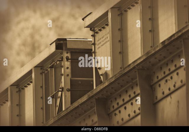 Sepia tone train boxcar - Stock Image