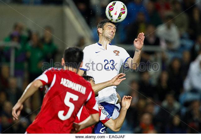 Algarve, Portugal. 14th November, 2014. PORTUGAL, Faro: Portugal's forward Hélder Postiga during the UEFA - Stock Image