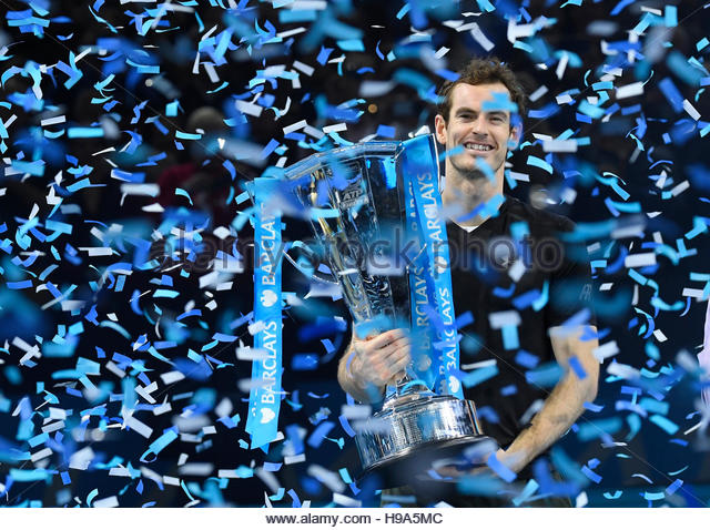 Tennis Britain - Barclays ATP World Tour Finals - O2 Arena, London - 20/11/16 Great Britain's Andy Murray celebrates - Stock Image