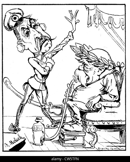 Caricature of B. Moloch in the 'Illustrated Daily'. Bismarck's 80th birthday - Stock Image