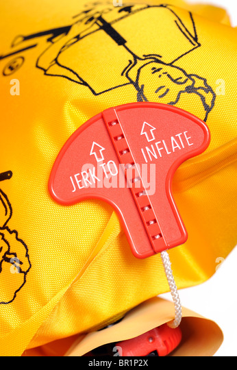 Aircraft Life Jacket - Stock Image