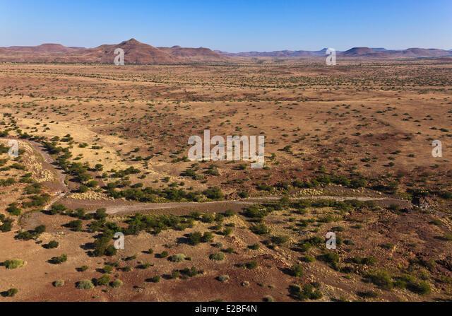 Namibia, Damaraland, near Palmwag (aerial view) - Stock Image