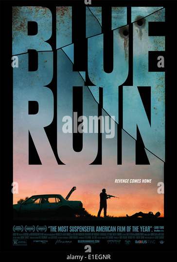 BLUE RUIN (POSTER) (2013) JEREMY SAULNIER (DIR) MOVIESTORE COLLECTION LTD - Stock Image