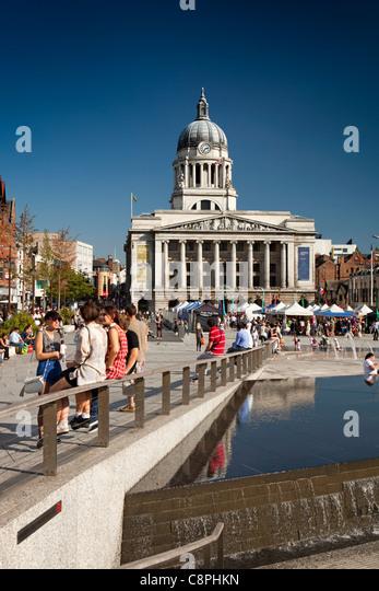UK, Nottinghamshire, Nottingham, Old Market Square - Stock Image