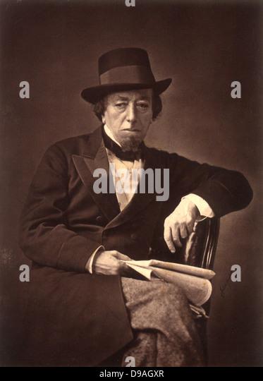 Benjamin Disraeli, 1st Earl of Beaconsfield, British Prime Minister - Stock Image